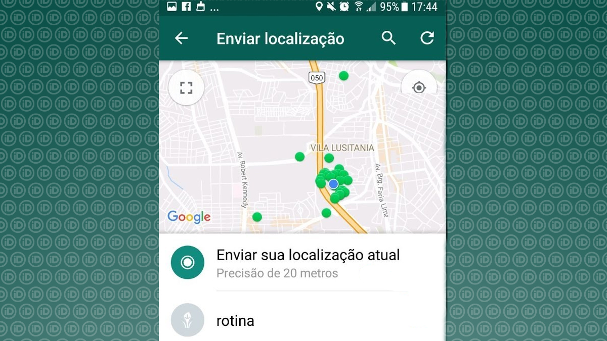 whatsapp localização