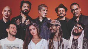 Mari Nolasco, Mussoumano, Gabriel Elias e Jão cantam em show com Jota Quest no YouTube Space Rio