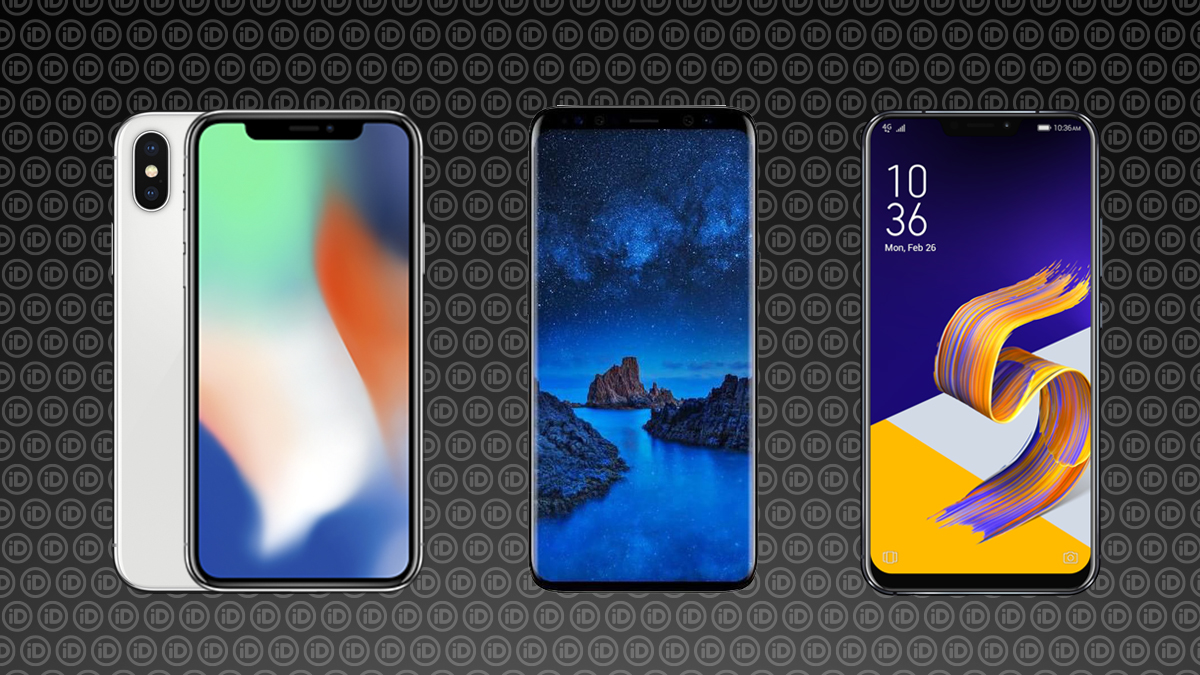 iPhone X, Samsung Galaxy S9, ASUS ZenFone 5z
