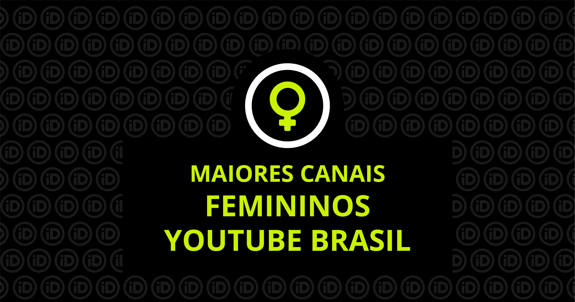 canais femininos do youtube
