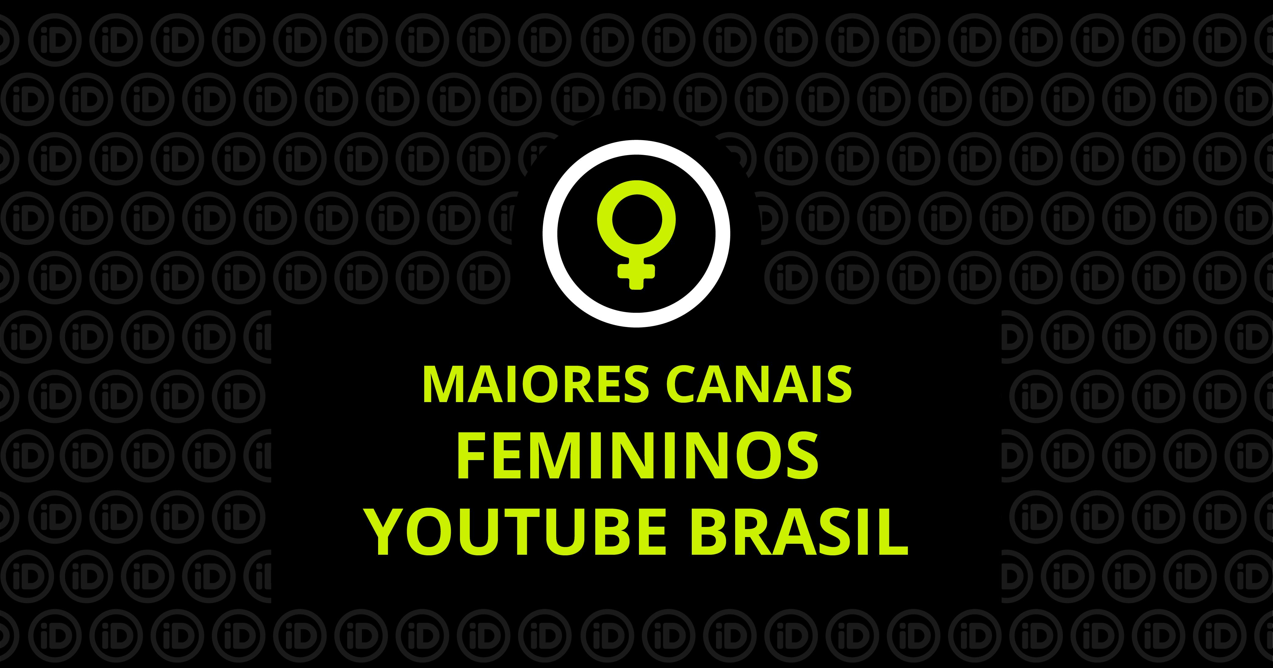 canais femininos do youtube